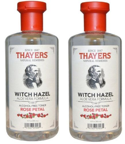 2-Pack-Face-Toner-Rose-Petal-Witch-Hazel-with-Aloe-Vera-12-oz-Alcohol-free-New