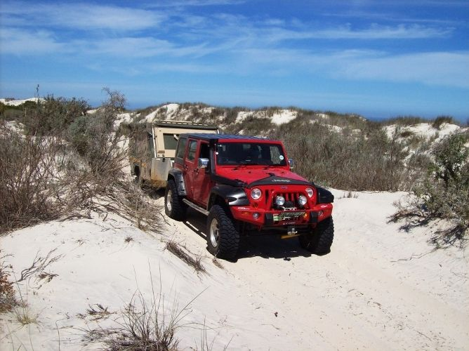 Jakes Jacobs in his Jeep Rubicon. See the June issue of SA4x4 Magazine for full details.