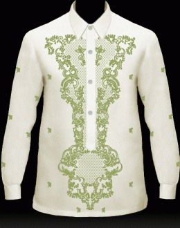 Men's Barong Tagalog; might be a bit overkill on design?