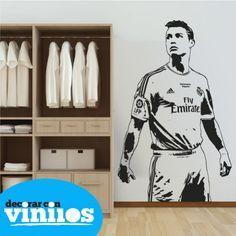 Vinilos Decorativos - Cristiano Ronaldo : Vinilos de deportes - Decorar con vinilos - Tienda de vinilos decorativos online
