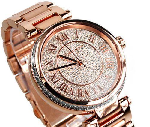 New MICHAEL KORS Skylar Rose Gold Swarowski Glitz Watch MK5868 in Wristwatches | eBay
