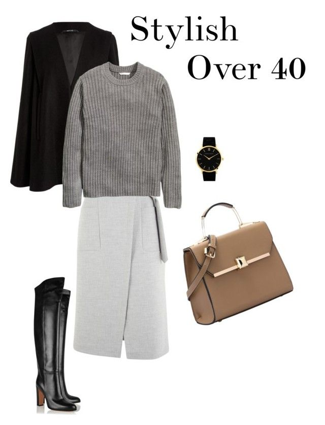 Stylish over 40 on Polyvore featuring H&M, Maison Margiela, Phase Eight, Gianvito Rossi and Larsson & Jennings