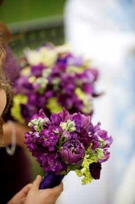 Amie Otto Photography Virginia Spring Wedding Purple Bouquets 275x415 Jessica + Jims Traditional Purple and Green Spring Wedding in Virginia