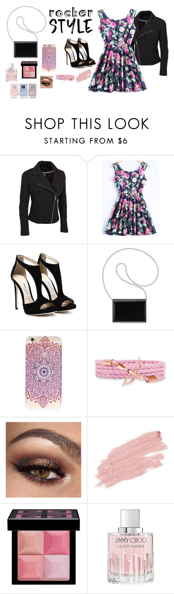 """""""Rocker Chic"""" by shoppingismycardio99 ❤ liked on Polyvore featuring Nine West, Jane Iredale, Givenchy, Jimmy Choo, Nails Inc., rockerchic, rockerstyle and plus size clothing"""