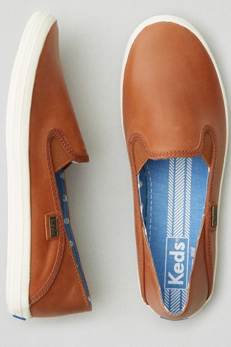 Keds Crashback Leather Sneakers in Cognac