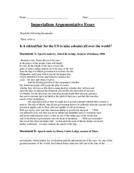 essays imperialism china