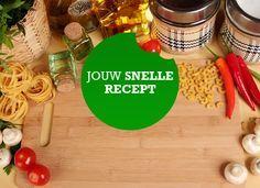 Super lekker recept met tortellini, courgette en ui. Ik deed er nog extra look bij.