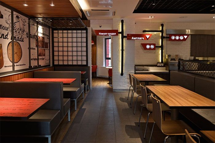 Best images about interior fast food kfc mongolia