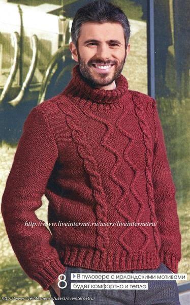Мужские свитера спицами с описанием