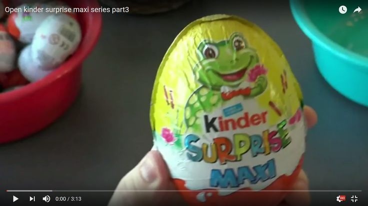 """The third part of the """"kinder maxi surprise eggs"""" series show us a very nice surprise found inside the big kinder egg. If you are a child inloved by kinder surprise eggs watch the kinder surprise series made by Playtime Paradise."""