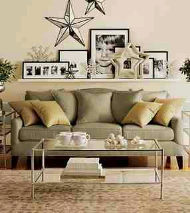 Wall Sconces Over Couch : Considering shelf above couch for an easy gallery. Also love the stars. House Ideas Pinterest