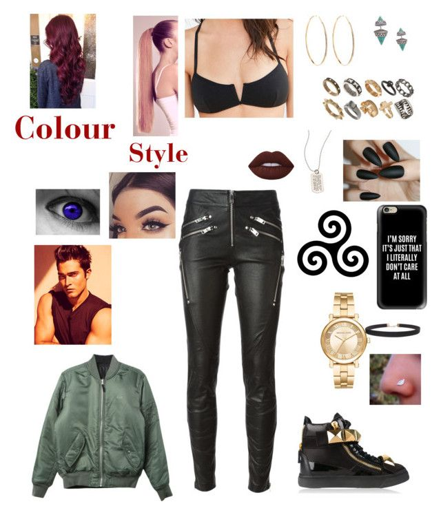 """Kk"" by lumsdenk on Polyvore featuring Michael Kors, Humble Chic, Metal Pressions, Casetify, ASOS, Lana, Out From Under, HUF, Diesel and Giuseppe Zanotti"