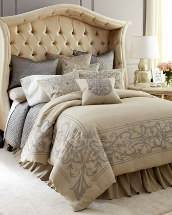 """Westerly"" Bed Linens by Callisto Home at Horchow."