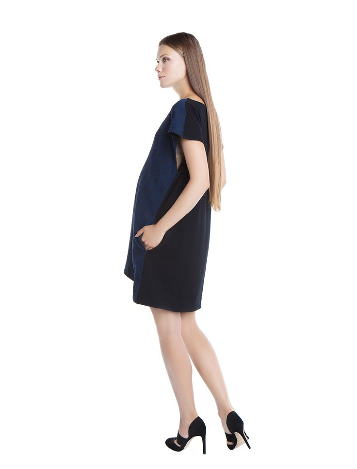 Artemis python blue-black double faced tunic dress! chic&sexy - day&night - during&after pregnancy - check now! www.nanarisematernity.com