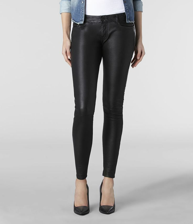 Womens Harrah Pipe Skinny Trouser (Black) | ALLSAINTS.com