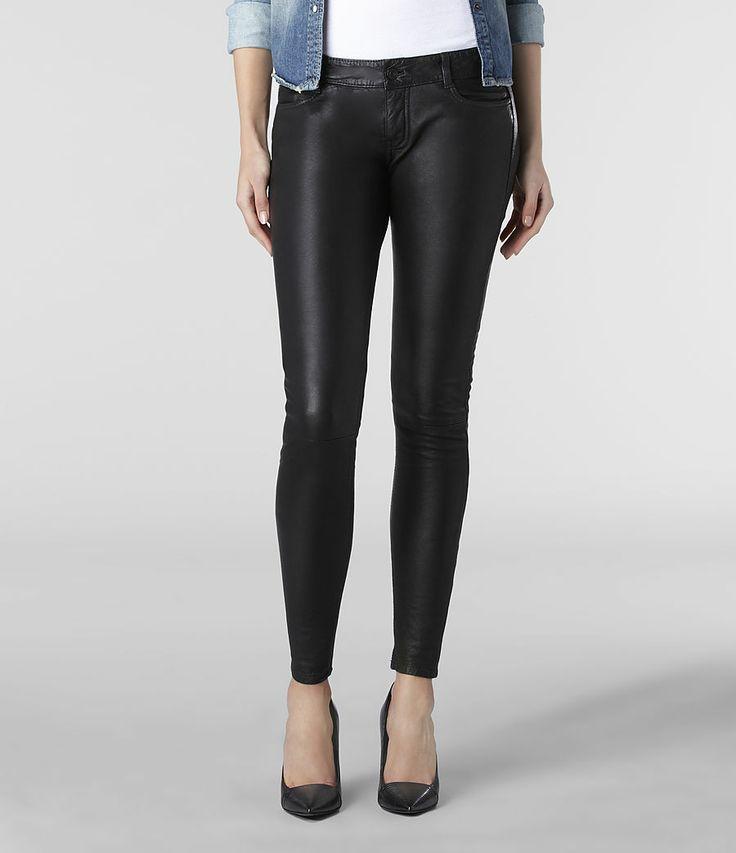 Womens Harrah Pipe Skinny Trouser (Black) | ALLSAINTS.com
