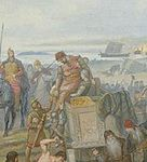Styrbjörn the Strong (Old Norse Styrbjörn Sterki) (died c. 985) was, according to late Norse sagas, the son of the Swedish king Olof, and the nephew of Olof's co-ruler and successor Eric the Victorious, who defeated and killed Styrbjörn at the Battle of Fyrisvellir.