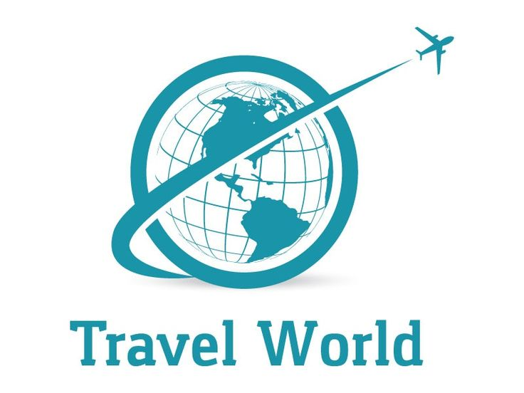 Travel Logo Design Airplane In Globe Vector Illustration Travel Logo Globe Vector Logo Design