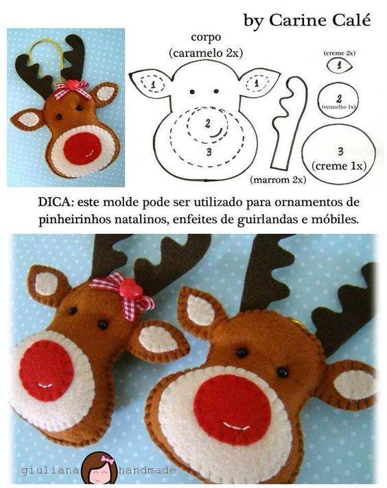 Décoration de Noël en feutrine - PATRON: