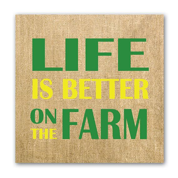John Deere Wall Art, Life is Better on the Farm. Printed on premium canvas with a burlap background. #johndeere #lifeisbetter #thegoodlife #farmhouse