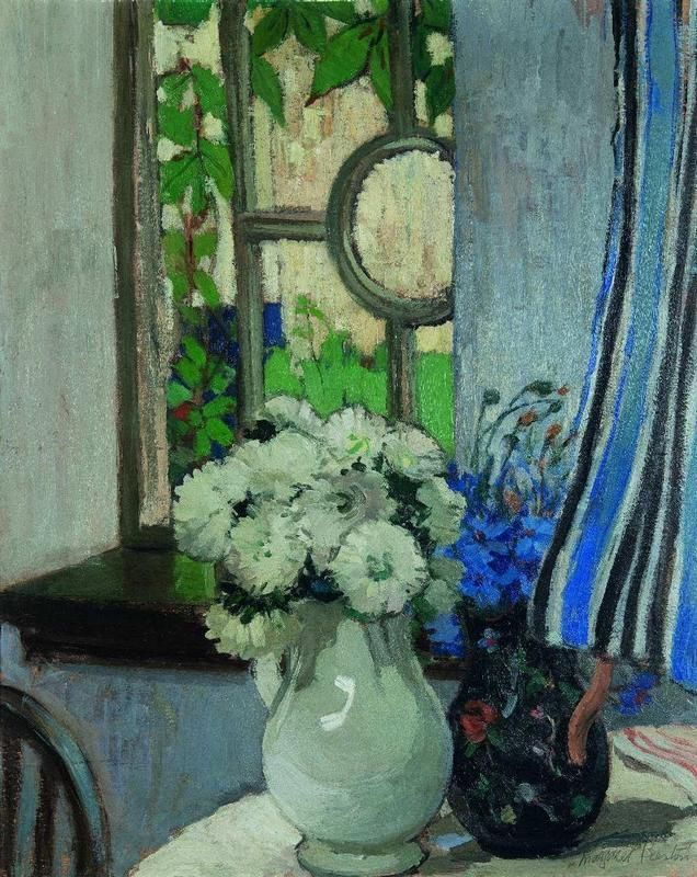 Margaret Preston, The Window, C.1916 Also Known as 'By the Window' and (Still Life - Arrangement in Two Vases Before a Window)