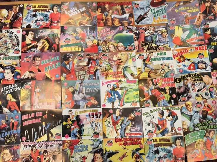Diego Valor 1950s Orig Lot 42  Spanish Language Comic Book Collection Rare Video