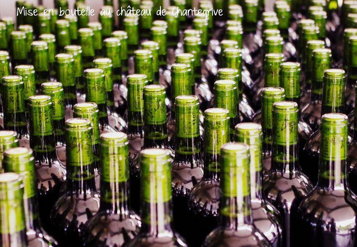 """""""Mis en bouteille au château"""" blog château de Chantegrive - bottling process"""