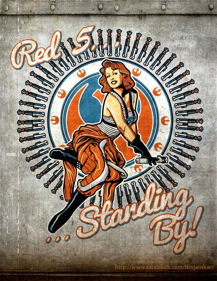 Star Wars nose art :)  I wonder what that would look like on my truck... (lol)