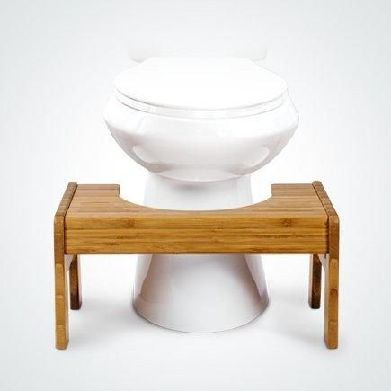 Squatty Potty The Original Adjustable Height Bathroom Toilet Stool- Tao Bamboo