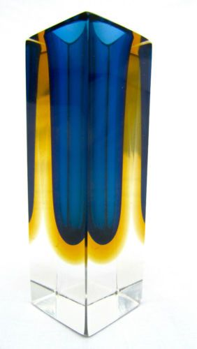 Modernist Mid Century Murano Sommerso Art Glass Block Vase Vessel Mandruzzato | eBay