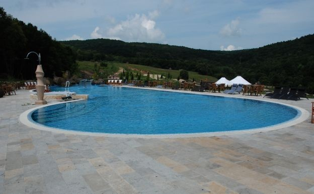 Pool in Romania.
