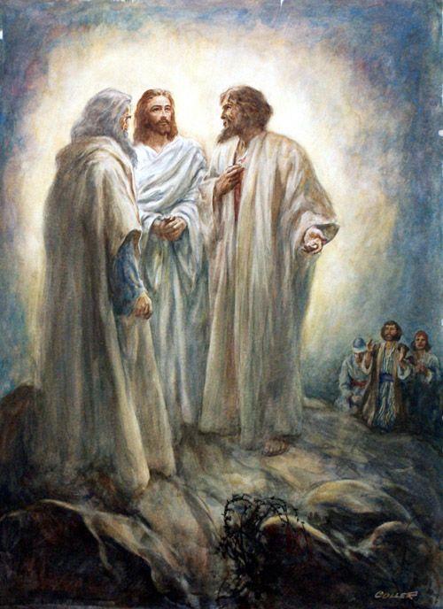 Transfiguração do Senhor. Jesus conversa com os santos profetas Elias e Moisés. *Porque o Cristo se comunicava com desencarnados...