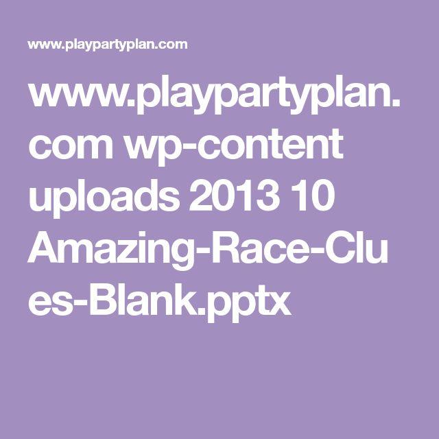 www.playpartyplan.com wp-content uploads 2013 10 Amazing-Race-Clues-Blank.pptx