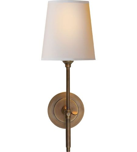 Visual Comfort Thomas OBrien Bryant 1 Light Decorative Wall Light in Hand-Rubbed Antique Brass TOB2002HAB-NP