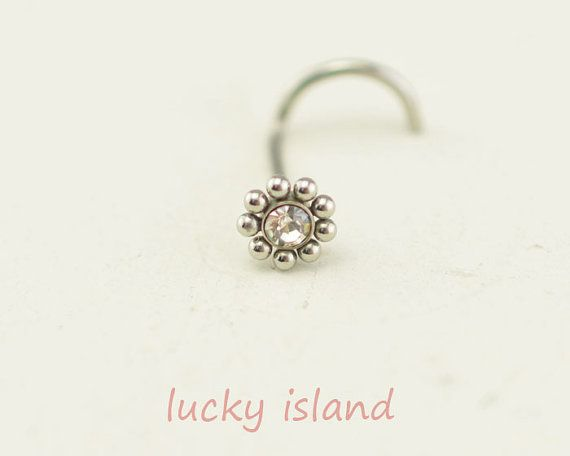 nose ring sunflower nose ring316L Surgical Steel by luckyisland, $3.59
