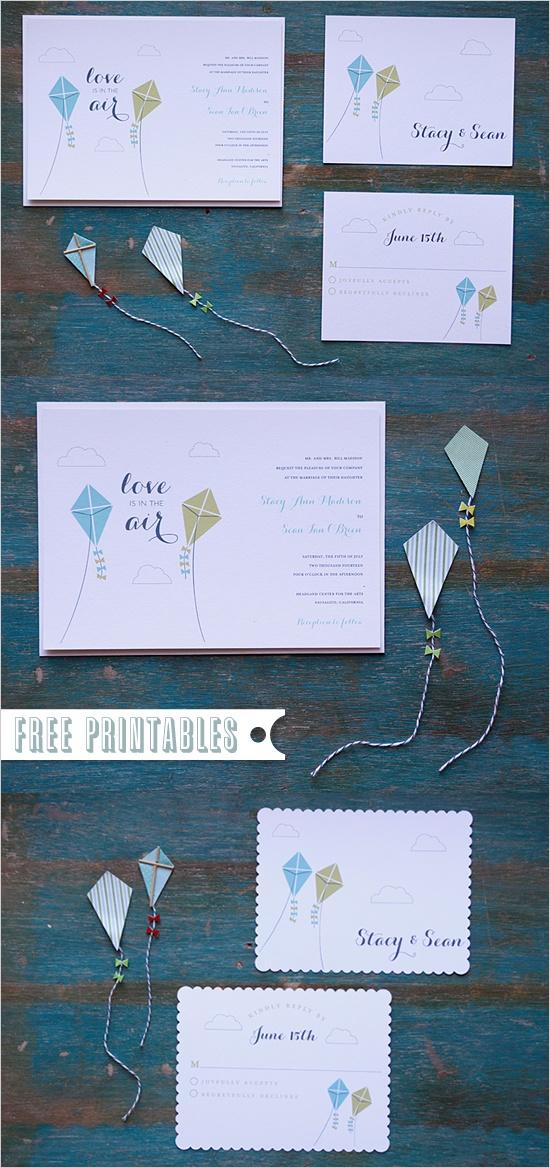 Free Printable Kite Invitations