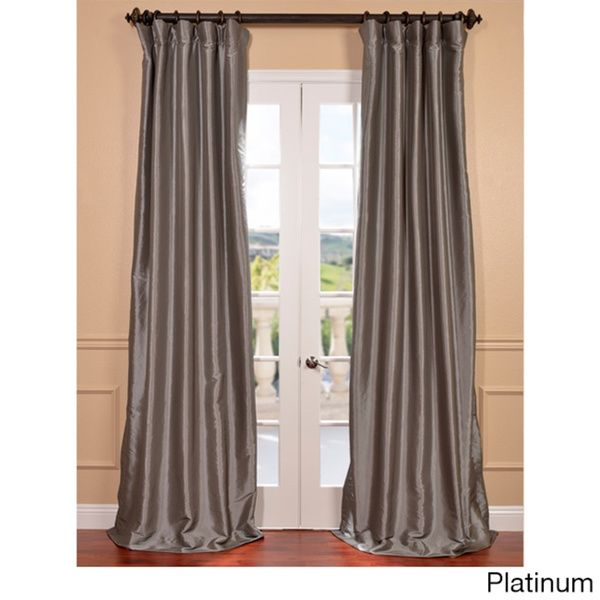 faux silk taffeta solid blackout curtain panel overstock shopping great deals on eff curtains