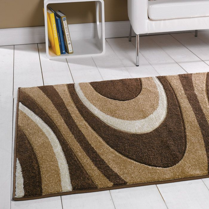 Modern Rug In A Funky Design. This Contemporary Design Comes In Brown, Green  And