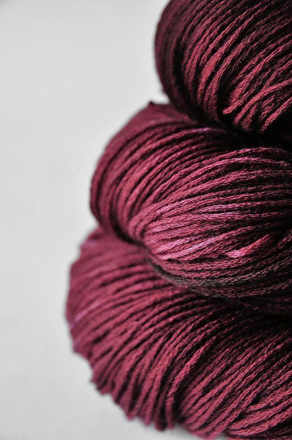 burgundy yarn