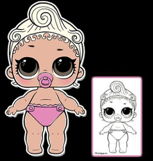 LOL Surprise Doll Coloring Pages - Free Printable Coloring ...