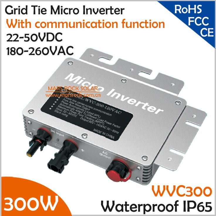 300W Waterproof Grid Tie Micro Inverter with Communication for 300W PV Panel 22-45VDC 190-260VAC MPPT Pure Sine Wave Inverter #Affiliate