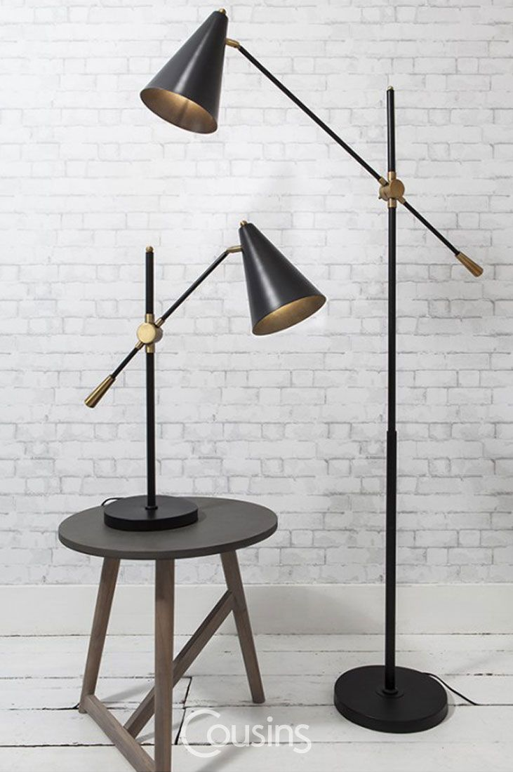 Zadia floor lamp with its slim styling, elegant balance is a perfect addition for modern, Scandinavian inspired rooms