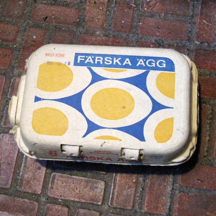 EGG BOX I love flexo-print with few colours on | Vintage Packaging | BOX BOX BOX