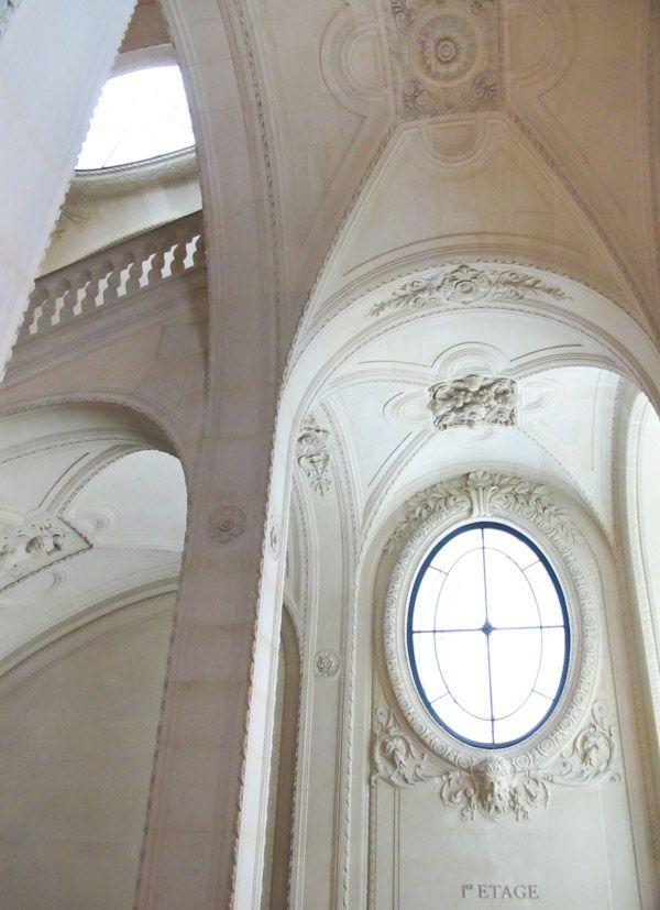 Lefuel staircase inside Le Louvre, Paris