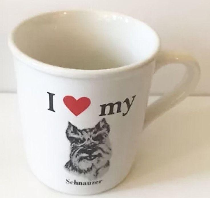 Schnauzer Dog White Mug Coffee Cup I Love My Pet Animal Heart Papel USA Made #StrandEnterprises