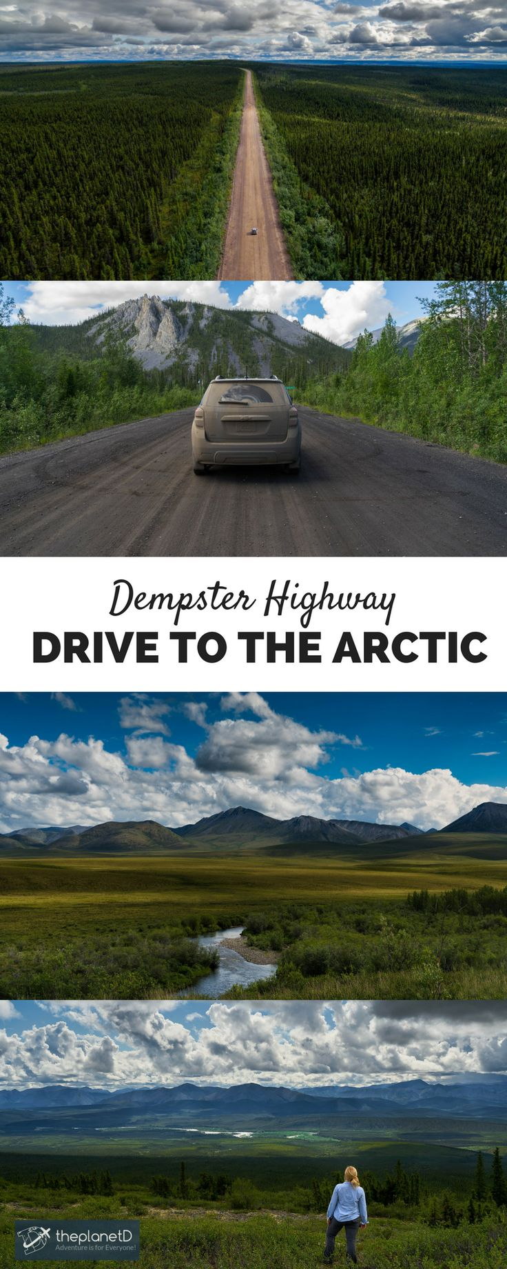 Did you know you can actually drive to the Arctic? – Yes you Can! On the Dempster Highway: 736 km road from the far Arctic in Inuvik in the Northwest Territories, to Dawson City in the Yukon, Canada | The Planet D Adventure Travel Blog