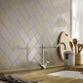 Laura Ashley Artisan French Grey Ceramic Gloss Glazed Handmade style tiles