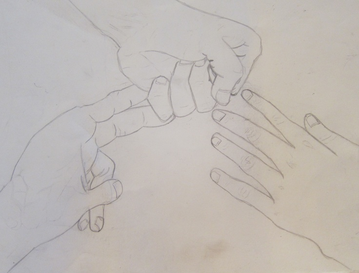 rock, paper, scissors in case you didn't get it, drawing class assignment