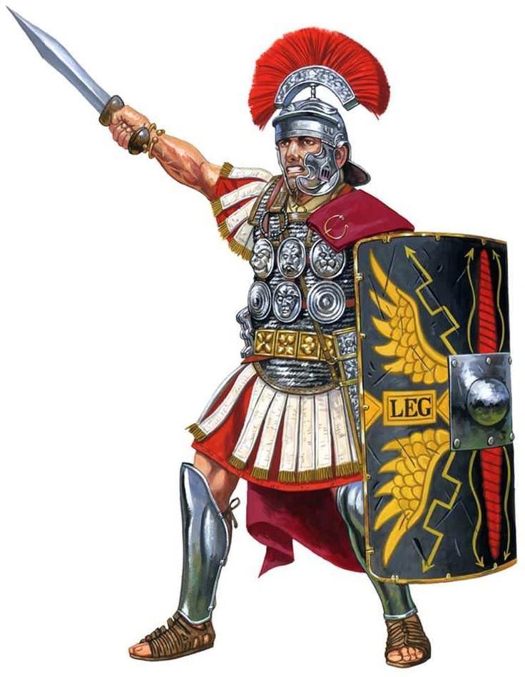 Centurión romano condecorado con phalerae durante el Alto Imperio, cortesía de Johnny Shumate. http://www.elgrancapitan.org/foro/viewtopic.php?f=87&t=16979&p=897126#p897111