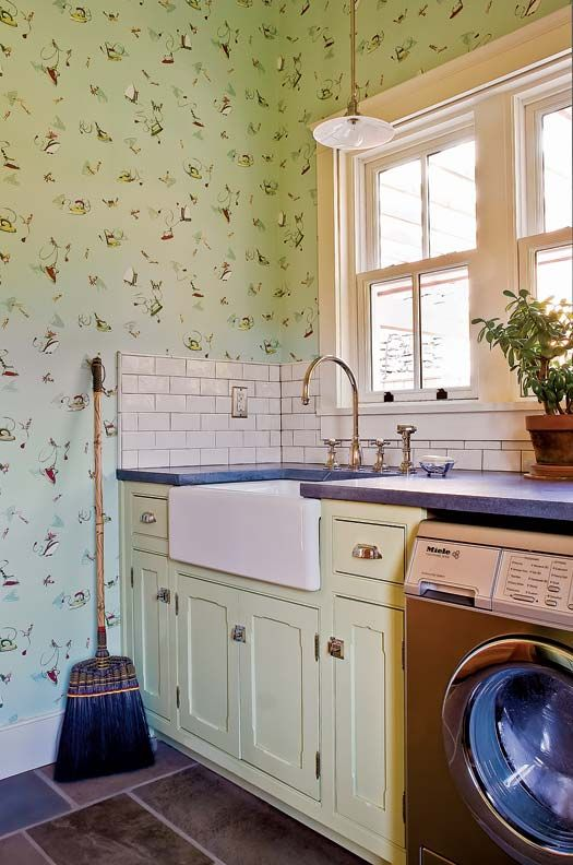 An Eco Friendly Farmhouse Laundry Rooms Pattern